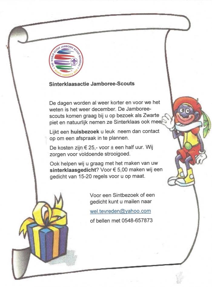 Hellendoorn Sinterklaasactie Jamboree Scouts